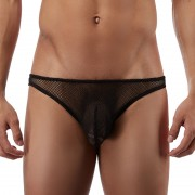 Male Power Stretch Net Wonder Bikini Underwear Black 491-11C