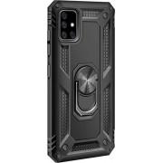 SaharaCase - Military Kickstand Series Case for Samsung Galaxy A71 5G - Black