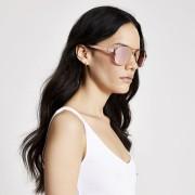 river island Womens Rose Gold mirrored aviator sunglasses (One Size)