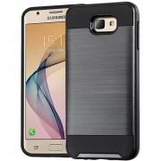 Funda Case Para Samsung J5 Prime (G570) Doble Protector Uso Rudo-Negro