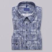 Női kék sötét kék ing Willsoor finom mintázatú csíkos 9594