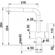 GARANTIE 2 ANI Baterie BLANCO LINUS-S-F FINISAJ INOX 514024