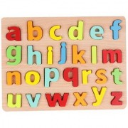 Wooden Small Alphabets Letters Learning Educational Tray Toy for Kids