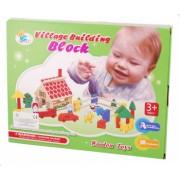 Joc constructiv cuburi din lemn - Jucarie creativ educativa copii TW04