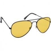 Laurels Aristocrat Men Yellow Color Polarized Aviator Sunglass (LS-AST-080202)
