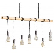 Hanglamp Bamboe 7Lampen van 120 cm breed