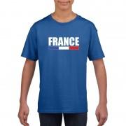 Bellatio Decorations Blauw Frankrijk supporter t-shirt voor kinderen