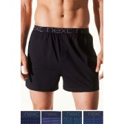 Mens Next Mixed Pattern Loose Fit Four Pack - Navy