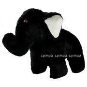 LipiWorld® Little Baby Elephant Stuffed Animal Soft Plush Toy Gift for Kids/Children/Home Decor/Kids Birthday (Elephant-30CM-BLACK)
