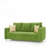 Earthwood - Fully Fabric Upholstered Three-Seater Sofa - Premium Valencia Bright Green