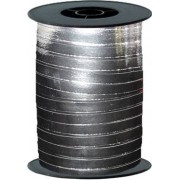 "dm_logo ""Silver Metallic Curling Ribbon 10mm x 250m"""
