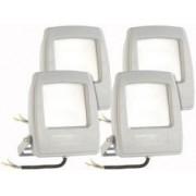 KryoLights 4 projecteurs LED pour extérieur - 10 W - Blanc