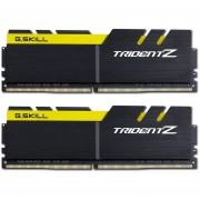 Memoria Ram DDR4 G.SKILL TRIDENT Z 3200MHz KIT 2x 8GB 1.35V C16 NEGRO / AMARILLO F4-3200C16D-16GTZKY