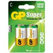 Gp Batteries Blister 2 Batterie Mezza Torcia C GP Super