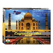Sunny Taj Mahal Engraving Art