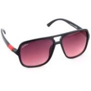 Rockford Rectangular Sunglasses(Red)