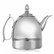 1L de espesor de acero inoxidable wishful pot / tetera con filtro - plata