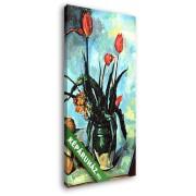 Paul Cézanne: Csendélet tulipánokkal (20x35 cm, Vászonkép )