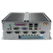 Partaker Fanless Industrial PC Rugged Computer IPC Mini PC Windows 10 Pro/Linux with Intel Atom D2550 6 COM Dual LAN 1 PCI 4G RAM 128G SSD I20
