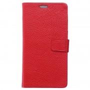 Capa de Pele Tipo Carteira para Samsung Galaxy Xcover 4 - Vermelho