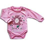 Detské body – LITTLE FLOWER, ružové veľkosť: 74
