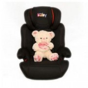 Scaun auto Kota Baby ISOFIX Extra Safe Negru/Rosu 15-36kg + Ursulet Plus 35cm Cadou