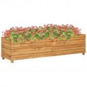 vidaXL Jardinieră, 150 x 40 x 38 cm, lemn de tec reciclat și oțel