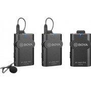 BOYA - Dual-Channel Wireless Receiver With Two Transmitters Microphone Kit