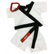 """Karate Outfit Fits Most 14"""" - 18"""" Build-a-bear, Vermont Teddy Bears, and Make Your Own Stuffed Anima"""