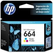 Cartucho HP 664-Tricolor