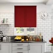 Jaluzea tip Rulou material Carina 6827 culoare Rosu inchis 600 mm x 1300 mm