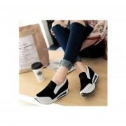 Mujer Zapatos de Plataforma estilo Casual y Comodo de color Negro