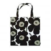 Marimekko - Pieni Unikko Einkaufstasche, schwarz / weiß