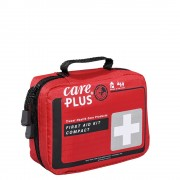 Care Plus First Aid Kit - Compact red