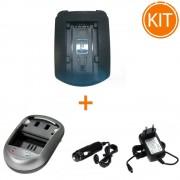 Kit Incarcator Power3000 pentru acumulator Sony tip NP-FP50/70/90 + Bonus adaptor auto