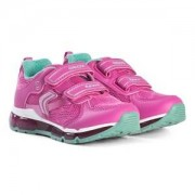 Geox Android Velcro Light Up Sneakers Rosa Barnskor 28 (UK 10)