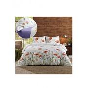 Lenjerie de pat, Dormisete, Summer shades 02, 2 persoane, renforce imprimata, bumbac, 220 x 230 cm, Mov