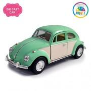 Smiles Creation Kinsmart 1:32 Scale 1967 Volkswagen Classical Beetle Ivory Door Classic Car Toy, Green (5-inch)