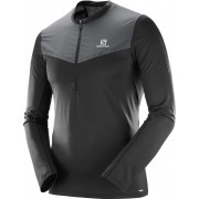 Salomon Fast Wing Hardloopshirt lange mouwen Heren grijs/zwart M 2018 Hardloopshirts