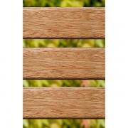 Certeo Holzsitzbank, massiv - Seitenteile gusseisern, Länge 2000 mm - Latten aus Merantiholz