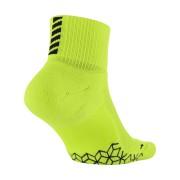 Chaussettes de running Nike Elite Cushion Quarter - Jaune