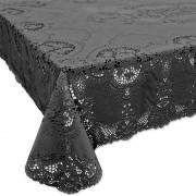 Unique Living Buiten tafelkleed/tafellaken antraciet grijs 137 x 180 cm