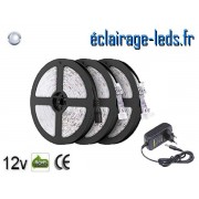 Kit Bandeau LED 15m Blanc froid IP65 12v DC ref KB15M-1