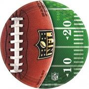 amscan NFL Drive Collection Platos Redondos de 10.5 Pulgadas, para Fiestas