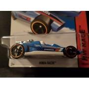 Hot Wheels 2015 Track Aces - Honda Racer [Grabber Blue] Card 182/250