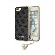 Capa Iphone X, Iphone XS GUESS Charms Collection GUHCPXGF4GBR Cinza Escuro em Blister