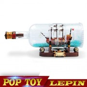 Generic Lepin 16051 Toys 1078Pcs Movie Series The 21313 Ship in a Bottle Set Building Blocks Bricks Birthday Gifts