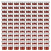 vidaXL Glass Jam Jars with Silver Lids 96 pcs 110 ml