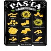 Placa Decorativa em MDF Ripado Pasta Massas