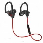 QC10 Bluetooth Headset Stereo Sound Sweat Proof Earphones with Mic and Ear Hook Bluetooth Headset